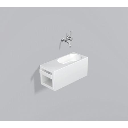Alape WP.XXS4 Zestaw Umywalka z szafką i wieszakiem po lewej stronie, biała 5065500000