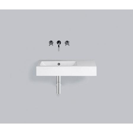 Alape WT.PR800.L Umywalka wisząca 80x40,5x13,5 cm lewa bez otworu na baterię, biała 4205300000