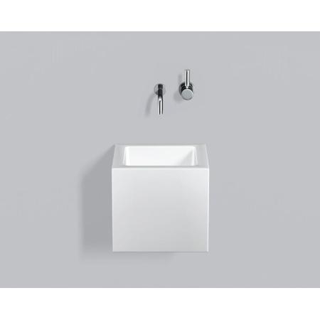 Alape WT.QS325X Umywalka wisząca 32,5x34,5x30 cm bez otworu na baterię, biała 4271000000