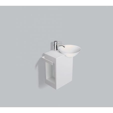 Alape WP.Insert2 Zestaw Umywalka z szafką i wieszakiem po lewej stronie, biała 5242000000