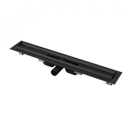 Alcaplast Odpływ liniowy prysznicowy 115 cm do rusztu perforowanego czarny mat APZ101BLACK-1150