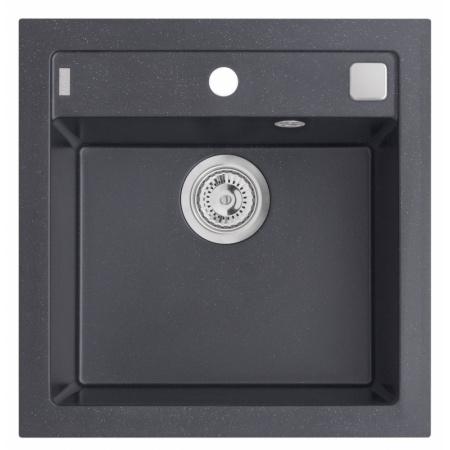 Alveus Formic 20 Zlewozmywak granitowy 52x51 cm 1-komorowy bez ociekacza, czarny 4402091