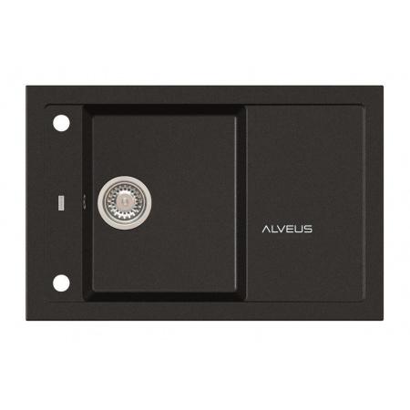 Alveus Formic 30 Zlewozmywak granitowy 78x48 cm 1-komorowy z ociekaczem, czarny 4403091