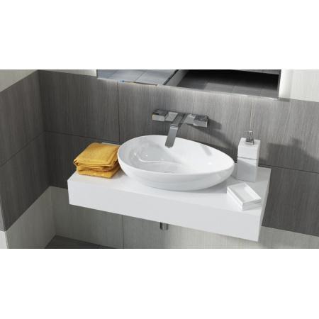 Antado Combi Blat pod umywalkę Conti 100x45x15 cm centralny, biały połysk ALT-B/4C-1000X450X150-WS/667761