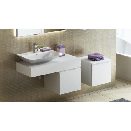Antado Combi Blat pod umywalkę Libra 100x45x15 cm lewy, biały połysk ALT-B/3L-1000X450X150-WS/667747