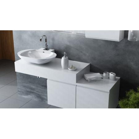 Antado Combi Blat pod umywalkę Mia 100x45x15 cm lewy, biały połysk ALT-B/1L-1000X450X150-WS/667686