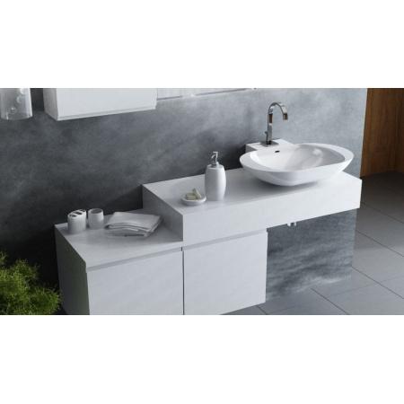 Antado Combi Blat pod umywalkę Mia 100x45x15 cm prawy, biały połysk ALT-B/1R-1000X450X150-WS/667693