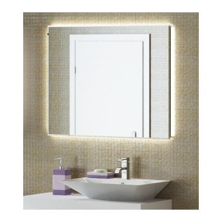 Antado Combi Lustro 100x80 cm z podświetleniem LED zza tafli lustra, ciepłe światło L-E8-LED3/671607