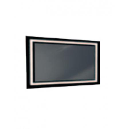 Antado Lustro prostokątne 100x60 cm z oświetleniem LED, ramka świetlna/czarny lacobel/światło zimne L1-C4-LED2B/671393