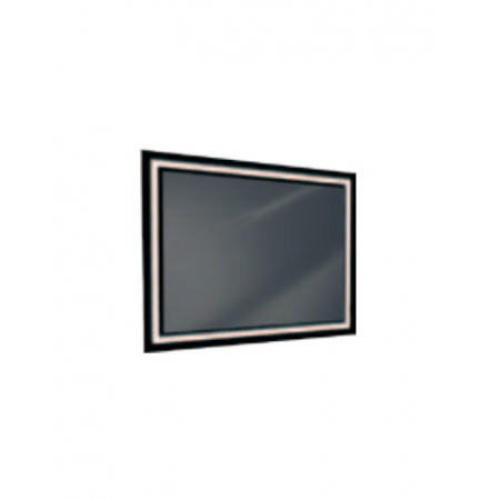 Antado Lustro prostokątne 100x80 cm z oświetleniem LED, ramka świetlna/czarny lacobel/światło zimne L1-E4-LED2B/664128