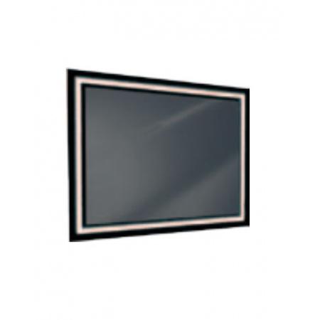 Antado Lustro prostokątne 120x80 cm z oświetleniem LED, ramka świetlna/czarny lacobel/światło zimne L1-J4-LED2B/671515