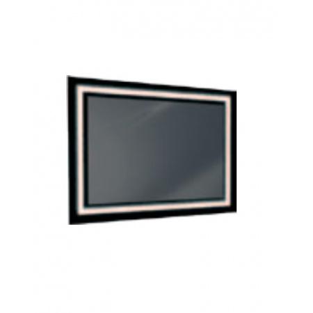 Antado Lustro prostokątne 60x80 cm z oświetleniem LED, ramka świetlna/czarny lacobel/światło zimne L1-B4-LED2B/671348