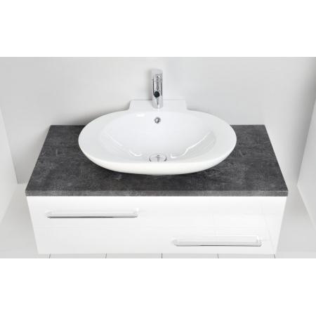 Antado Susanne Blat pod umywalkę Libra 95,2x46,8 cm, grafit beton AS-B/3-140/95-73/668409