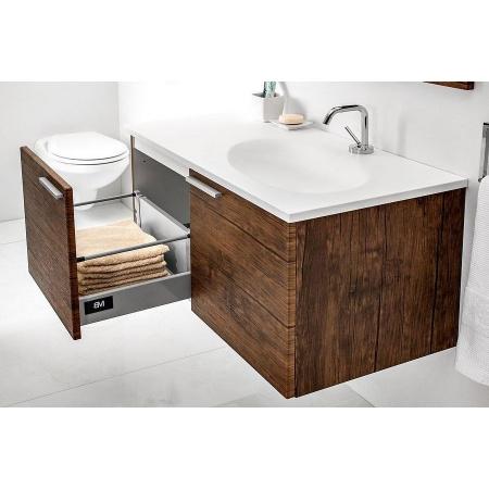Antado Sycylia Szafka z umywalką 90 cm prawa, stare drewno KTS-140/2-50R + UMMO-900-03R
