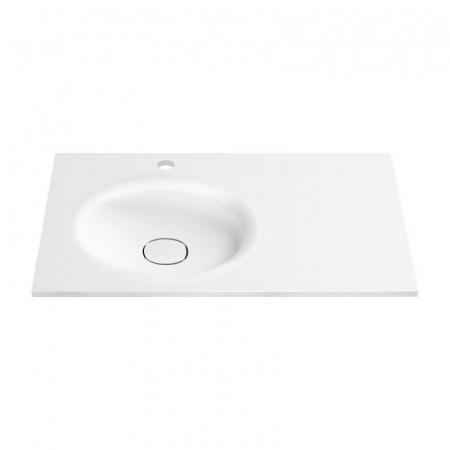 Antado Sycylia Umywalka meblowa 91x48,5 cm dolomitowa lewa, biały połysk UMMO-900-03L/653757