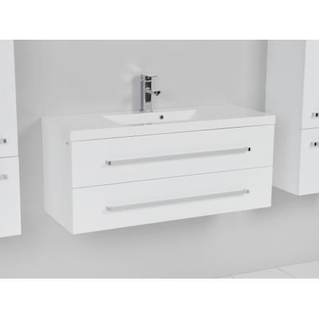 Antado Variete Szafka podumywalkowa 99,8 cm, biały połysk FM-C-442/10/2GT/660083