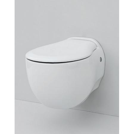 Art Ceram Blend Zestaw Muszla klozetowa miska WC podwieszana 36x52 cm z deską wolnoopadającą, biały L3110+S40 / BLV00101;00+BLA00601