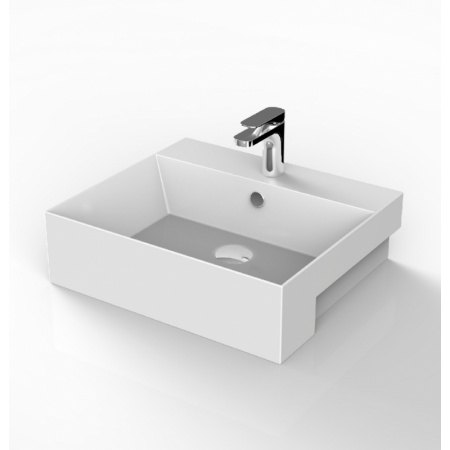 Art Ceram Quadro Umywalka półblatowa 50x48x16 cm, biała QUL004