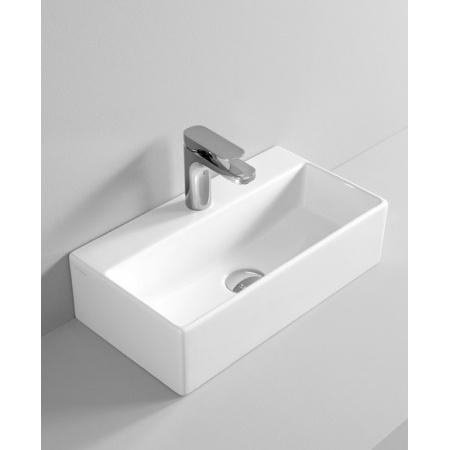 Art Ceram Quadro Umywalka wisząca lub stawiana na blat 50x27x13,5  cm, biała QUL001