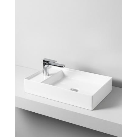 Art Ceram Scalino Umywalka nablatowa 60x38 cm z otworem na baterię, biała SCL003;01