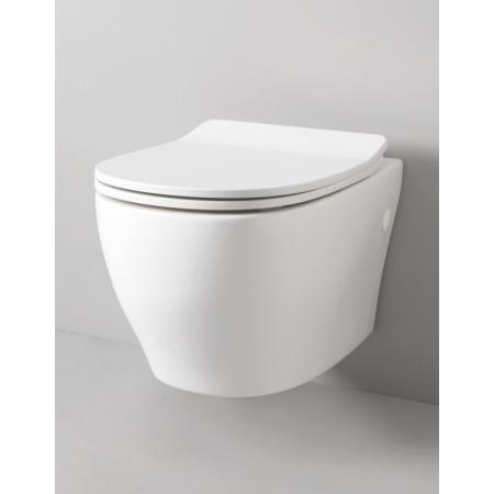 Art Ceram Ten Zestaw Toaleta WC podwieszana 52x36 cm z deską sedesową wolnoopadającą, biały TEV00501;00+TEA005