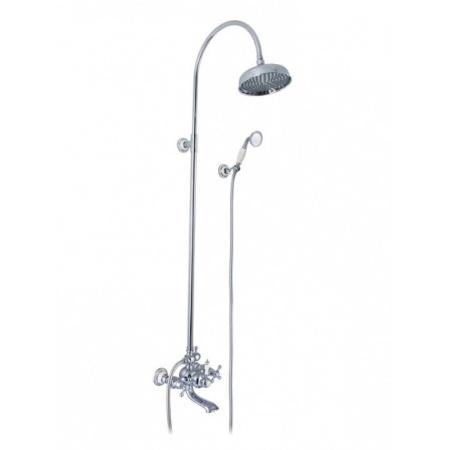 Art Platino Nikolas Zestaw prysznicowy natynkowy, chrom NIK-ZWPN.500C