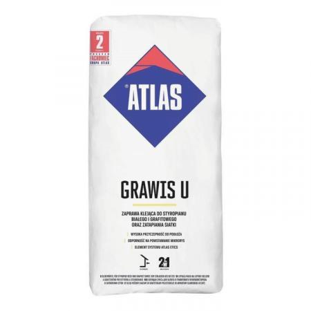 Atlas Grawis U Zaprawa klejąca 2w1 do styropianu i siatki 25 kg KA-GRAWISU25KG