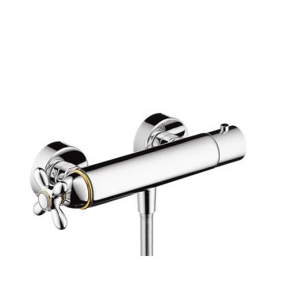 Axor Carlton Dwuuchwytowa bateria prysznicowa termostatyczna natynkowa chrom/złoty optyczny 17261090