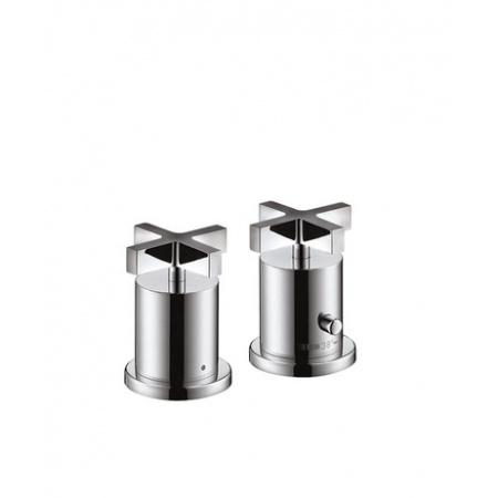 Axor Citterio Element zewnętrzny do 2-otworowej baterii termostatycznej nawannowej chrom 39480000