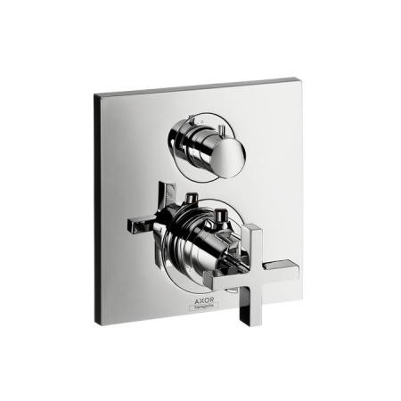 Axor Citterio Jednouchwytowa bateria wannowo-prysznicowa termostatyczna podtynkowa z zaworem odcinającym chrom 39705000