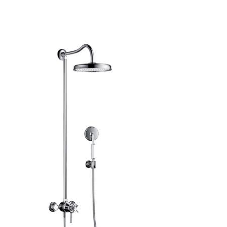 Axor Montreux ShowerPipe EcoSmart 9 l/min Zestaw prysznicowy z baterią termostatyczną i deszczownicą, chrom 16571000