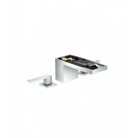 Axor MyEdition Dwuuchwytowa bateria umywalkowa stojąca 70 bez płytki z kompletem odpływowym push-open, chrom 47903000