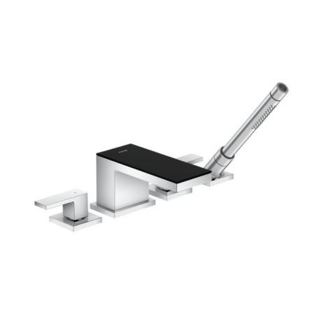 Axor MyEdition Dwuuchwytowa bateria wannowa 4-otworowa, chrom/szkło czarne 47430600