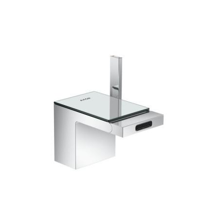 Axor MyEdition Jednouchwytowa bateria bidetowa stojąca z kompletem odpływowym push-open, chrom/szkło lustrzane 47210000