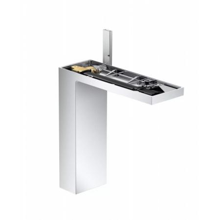 Axor MyEdition Jednouchwytowa bateria umywalkowa stojąca 230 bez płytki z kompletem odpływowym push-open, chrom 47022000
