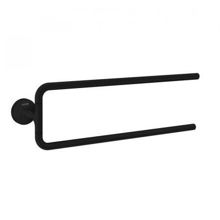 Axor Universal Circular Wieszak na ręcznik podwójny czarny mat 42822670