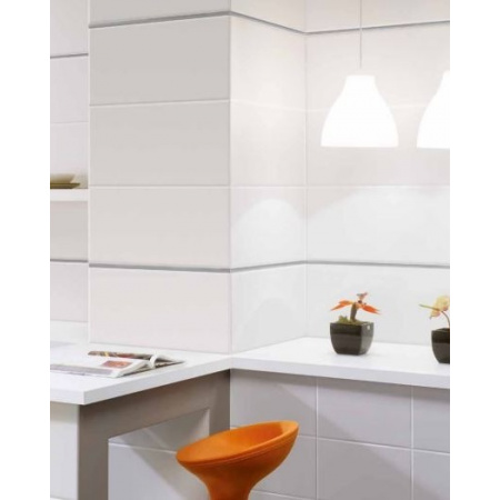 Azulejos Benadresa Blanco Mate Płytka ścienna 31,6x63,2 cm, biała ABBLANMATPS316632BIA