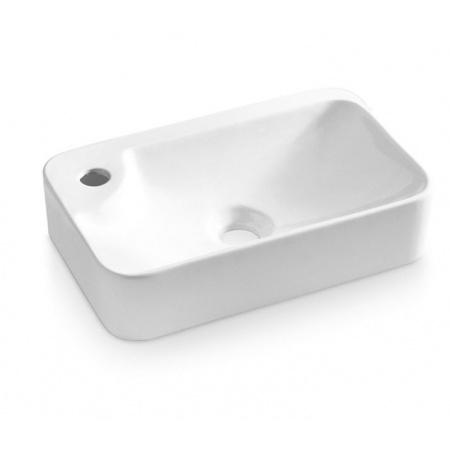 Bathco Alicante Umywalka nablatowa 43,5x29x10 cm, biała 0036P