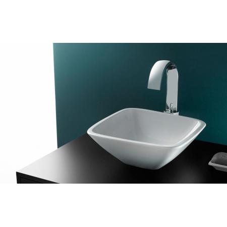 Bathco Baviera Umywalka nablatowa 30x30x11 cm, biała 4050