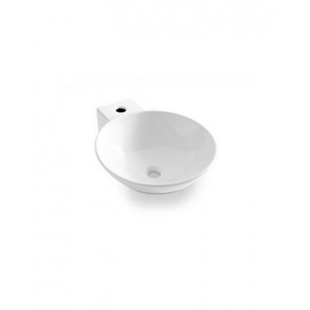 Bathco Bayona Umywalka nablatowa okrągła 42x50,5x15 cm, biała 0028