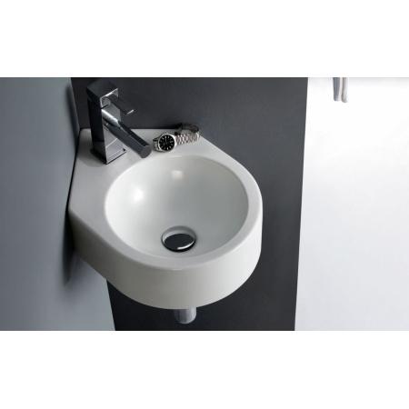 Bathco Bristol Umywalka wisząca 44x31x12 cm narożna, biała 4049