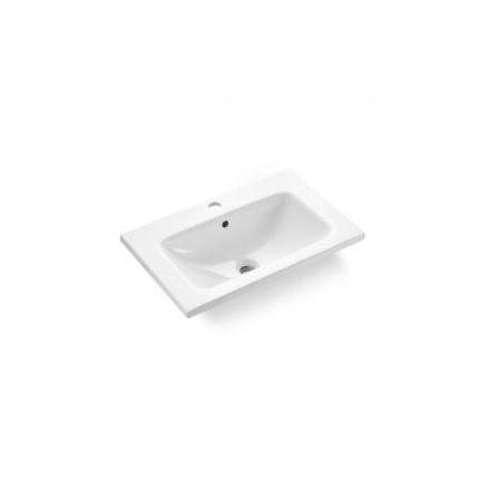 Bathco California Umywalka wpuszczana w blat 60x39x15 cm, biała 4028