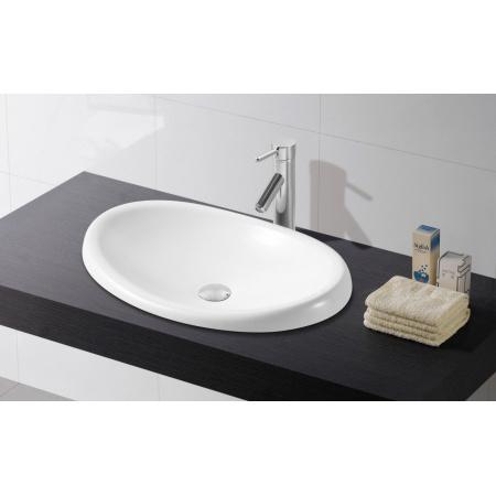 Bathco Ellipse Umywalka wpuszczana w blat 62x37x11 cm, biała 4022