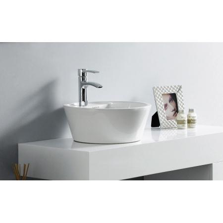 Bathco Florencia A Umywalka nablatowa 40x50 cm biała 4056