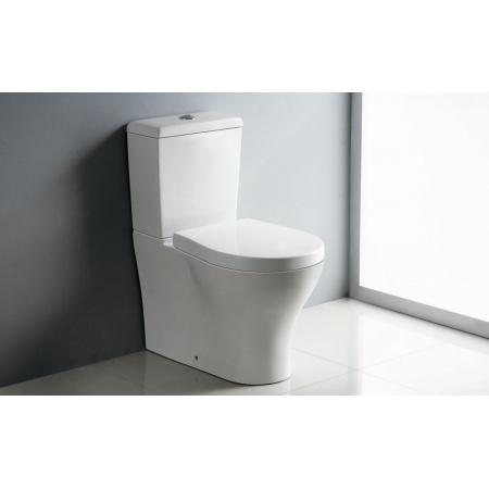 Bathco Formentera Muszla klozetowa miska WC kompaktowa stojąca 65x37x76,5 cm z deską wolnoopadającą, biała 4505