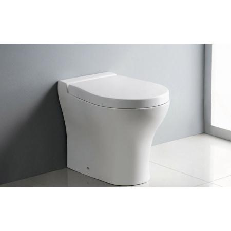 Bathco Formentera Muszla klozetowa miska WC stojąca 52,5x37 cm z deską wolnoopadającą, biała 4506