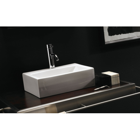 Bathco Gerona Umywalka nablatowa 42,5x30,5x13 cm, biała 0037