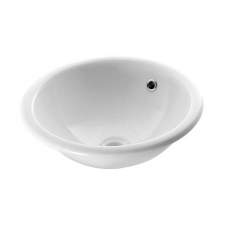 Bathco Laredo Umywalka wpuszczana w blat 40 cm biała 0063B