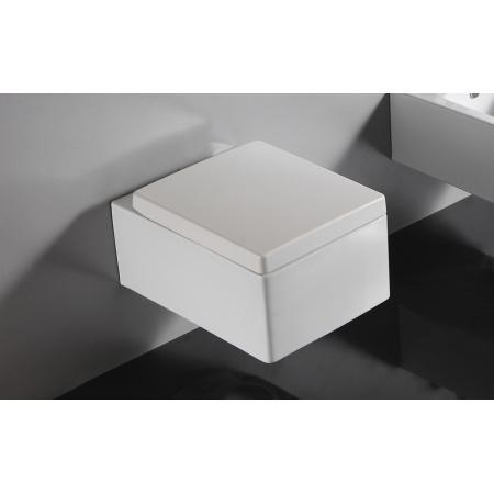 Bathco Orinoco Muszla klozetowa miska WC podwieszana 52,5x38,5 cm z deską wolnoopadającą, biała 4535/UF