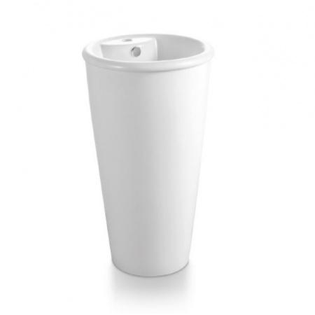 Bathco Roma Umywalka wolnostojąca okrągła 47x82 cm, biała 4047
